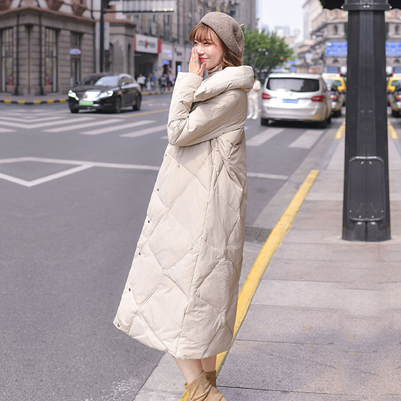 Winter Coat Female Fashion Women's Down Jacket 2019 Korean Thick Warm Long Duck Down Jacket Ladies Outer Wear Hiver 9019