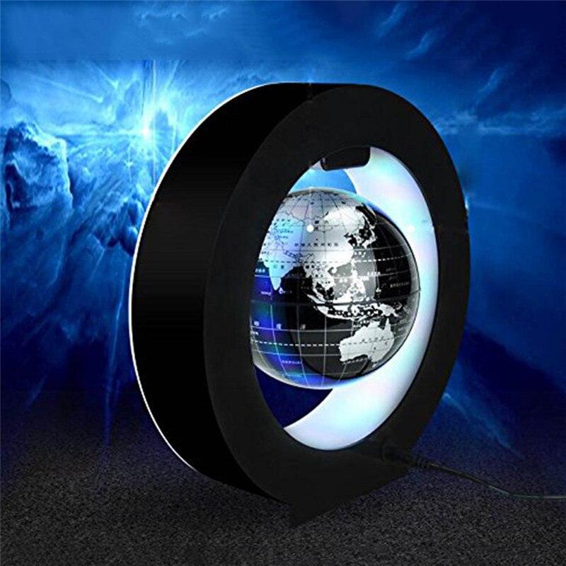 Image 3 - 4 インチラウンド LED グローブ磁気浮上グローブ地理浮上回転ナイトランプ世界地図学校の事務用品家の装飾    グループ上の ホーム