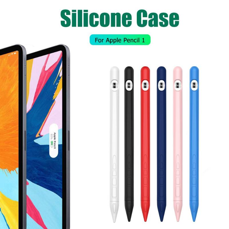 Tablet Touch Pen Stylus Cover Soft Silicone Sleeve For Apple Pencil 1 Protector Not Affecting Use And Charging Convenient