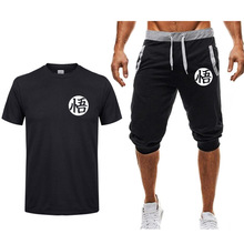 Summer High quality Sets Dragon Ball Z Goku Me T-shirt+shorts men Brand clothing Two piece suit tracksuit Fashion Casual Tshirts