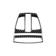 For BMW F20 F30 F34 F32 X1 X5 F15 X6 F16 Car Interior Dome Reading Light Decoration Frame Carbon Fiber Cover Trim Accessories universal replacement carbon fiber mirror cover for bmw rearview door mirror covers x1 f20 f22 f30 gt f34 f32 f33 f36 m2 f87 e84