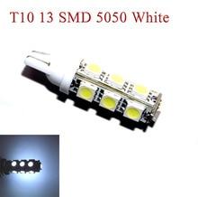 500pcs רכב אוטומטי LED T10 194 W5W 13 led smd 5050 טרז LED אור הנורה מנורת 13SMD לבן אדום כחול ירוק עמילות אורות