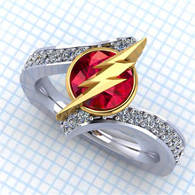 Charm Female Crystal White Red Stone Ring Silver Gold Color Wedding Finger Ring Promise Love Engagement Rings For Women unique style female crystal round leaf finger ring silver rose gold color wedding ring promise love engagement rings for women