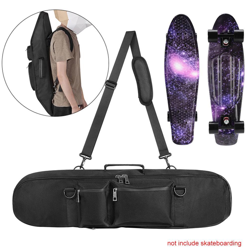 27inch Black Waterproof Skateboard Bag Longboard Case Backpack Hand Storage Pack