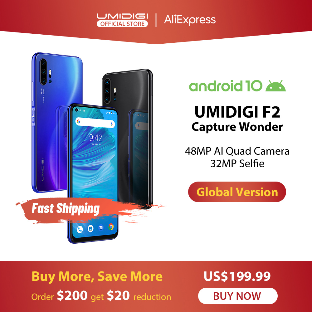 UMIDIGI F2 Android 10 Version mondiale 6.53