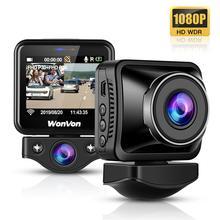 """WonVon WIFI kamera na deskę rozdzielczą przód wewnątrz kamery samochodowe 2.0 """"ekran LCD Full HD Dual 1080P kamera tylna wideorejestrator wideorejestrator samochodowy Dascam"""