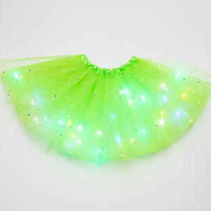 Tutu-Skirt Dancewear Magic-Light Party Fashion Glitter Sequin Princess Tulle Stars Fluffy-Ballet