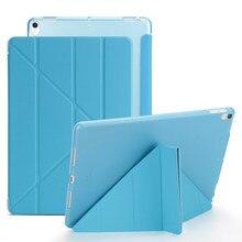 Étui en cuir pour iPad Air Pro 9.7 10.2 10.5 10.9 11 2018 2020 support Folio Smart couverture arrière avec fonction réveil sommeil