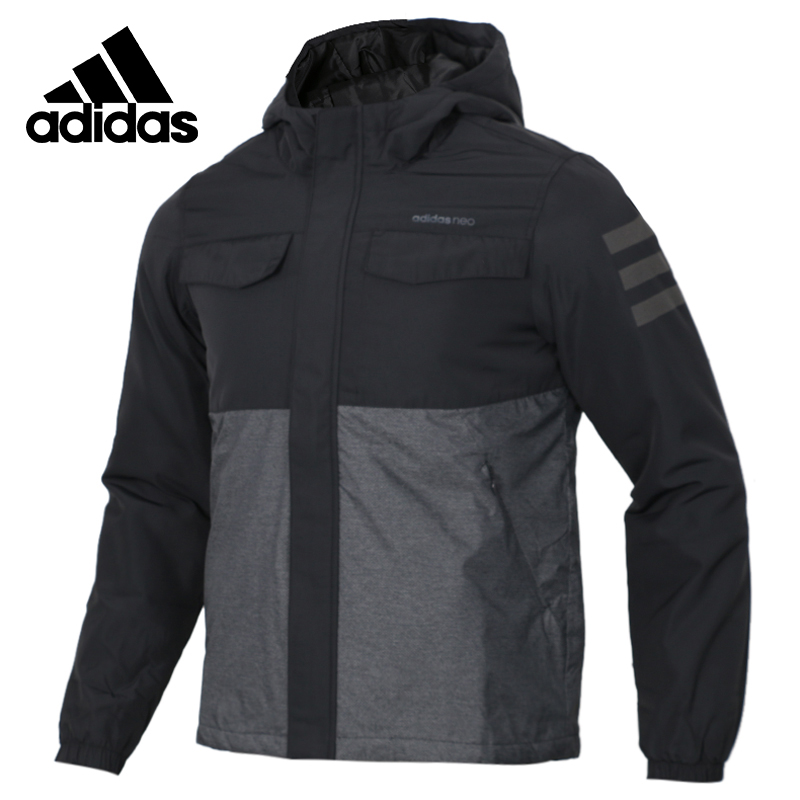 Original Adidas M PADDED JKT Mens Black Coat Hiking Outdoors Down Sportswear DM2198