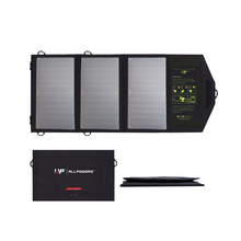 Allpowers נייד פנל סולארי מטען 5v 21w עמיד למים מתקפל usb נייד כוח בנק שמש תאים עבור iphone ipad xiaomi
