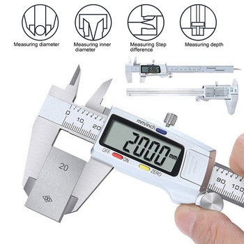 Digital Caliper Stainless Steel Electronic Vernier Calipers 6Inch 0-150mm Metal Micrometer Measuring Caliper Gauges#2 mini 0 150mm metal micrometer measuring tool caliper gauges digital caliper stainless steel electronic digital vernier calipers