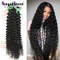 Волнипряди 30, 40 дюймов, Кудрявые Волнистые Бразильские пупряди волос, 100% натуральные накладные волосы Remy, пряди человеческих волос