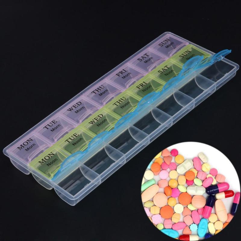 Boîte à pilules transparente | 21 jours, compartiment Transparent, couvercle, tablette, support de pilule, boîte de rangement des médicaments, étui organisateur