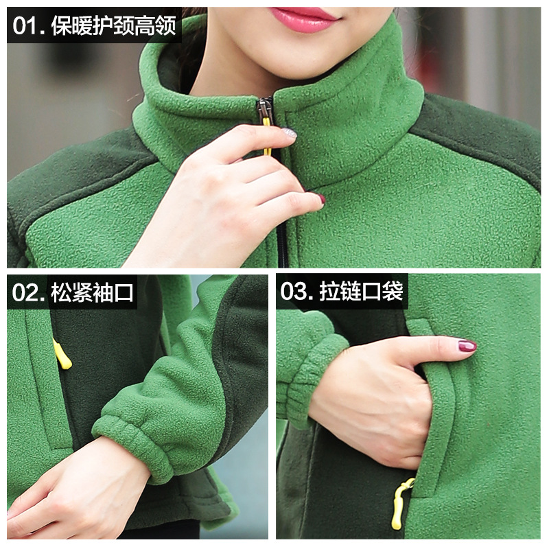 Large Size Fleece Women's Thick Warm Drawstring Sleeves Households Casual Sweatshirt Polar Fleece Jacket Open Hoodie Sweaters