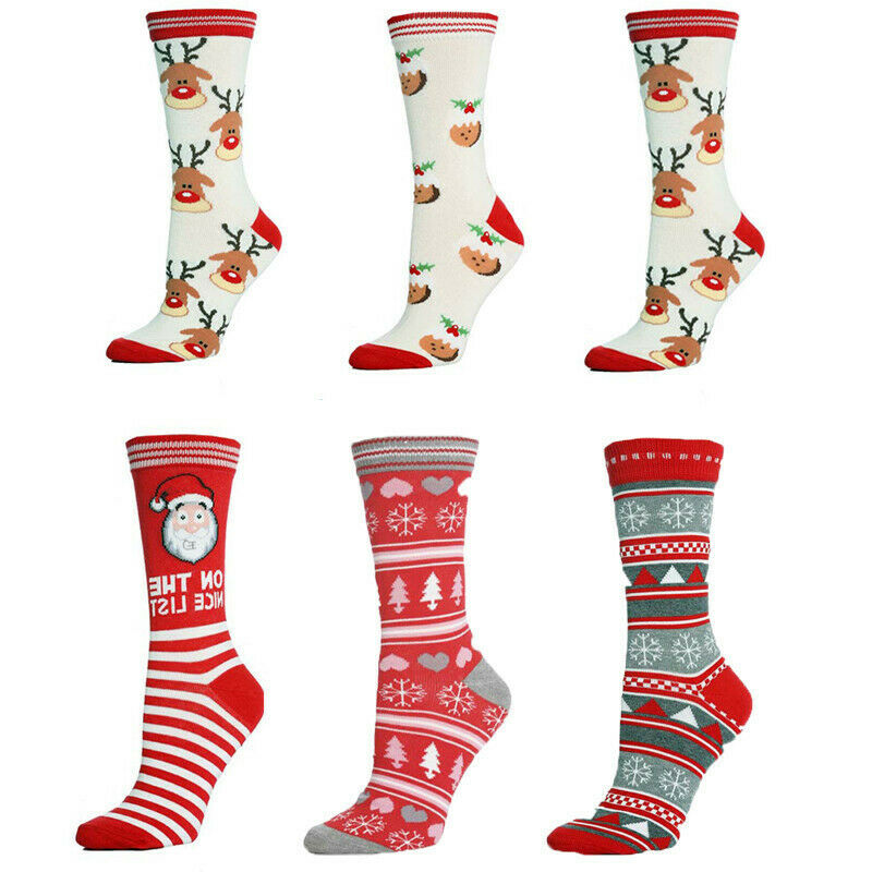 New 2019 Winter Warm  Women Sock Christmas Gifts Stereo Socks Soft Cotton Cute Santa Claus Deer Socks Xmas Christmas Socks Cute