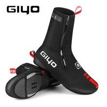 GIYO Reflective Thermal Warm Cycling Bike Shoe Covers Bicycle Overshoes for Men Women Road Mountain Bike Auto lock Booties