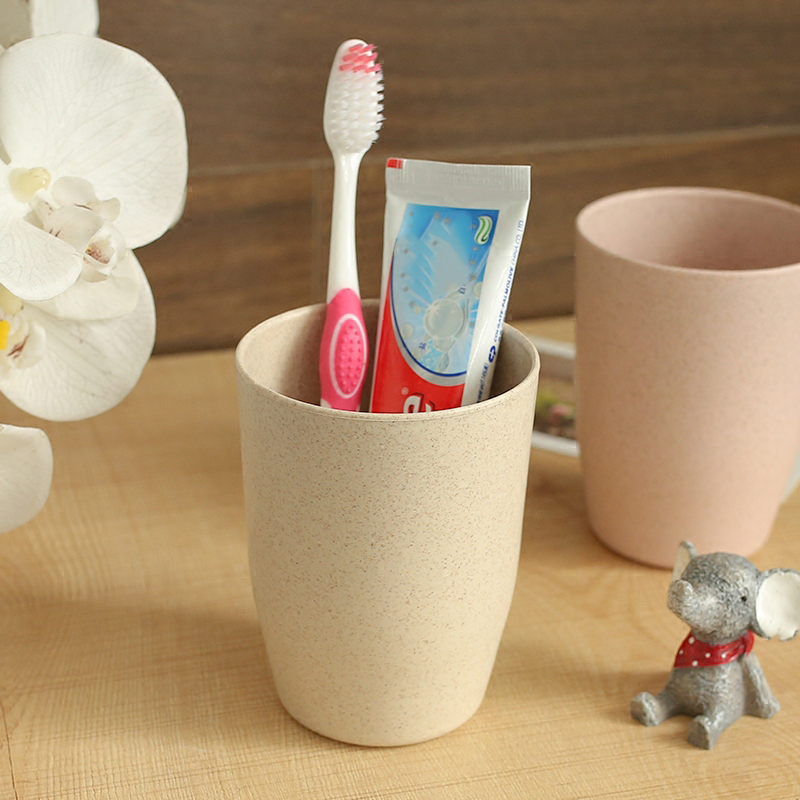 Nordic Style Plastic Tea Cups Eco-Friendly Wheat Straw Cup Coffee Tea Milk Drink Cup Toothbrush Cup