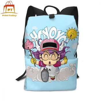 Dragon Ball Backpack Arale Backpacks Trending Multi Purpose Bag Shopping Teen Man - Woman High quality Print Bags helen parr backpack helen parr backpacks student high quality bag print trending shopper multifunction bags