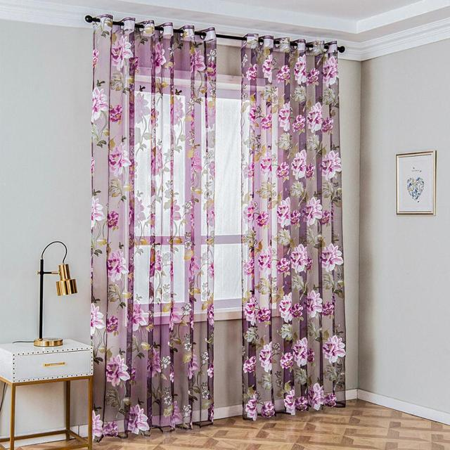 Floral Window Curtains 4