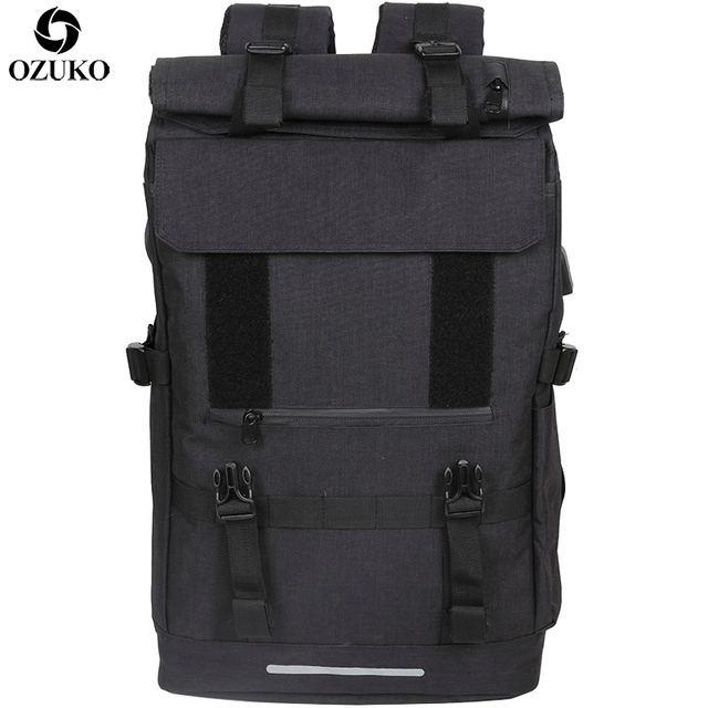 OZUKO New 40L Large Capacity Travel Backpacks Men USB Charge Laptop Backpack For Teenagers Multifunction Travel Male School Bag 1