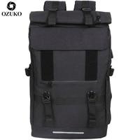 OZUKO nuovi zaini da viaggio da 40 litri di grande capacità zaino per Laptop con ricarica USB per adolescenti borsa da scuola per uomo multifunzione da viaggio