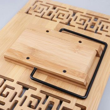 Bamboo Hollow regulowany stojak na książkę do czytania taca strona spinacze do papieru składany Tablet książka kucharska przenośny wytrzymały stojak N1HD tanie i dobre opinie N1HD5AC1101253 Bookends