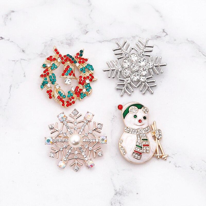 Эмалированная брошь в форме снеговика, снеговика, оленя, Подарочная коробка, перчатки, пингвин, Санта-булавка, праздничная брошь в виде муль...