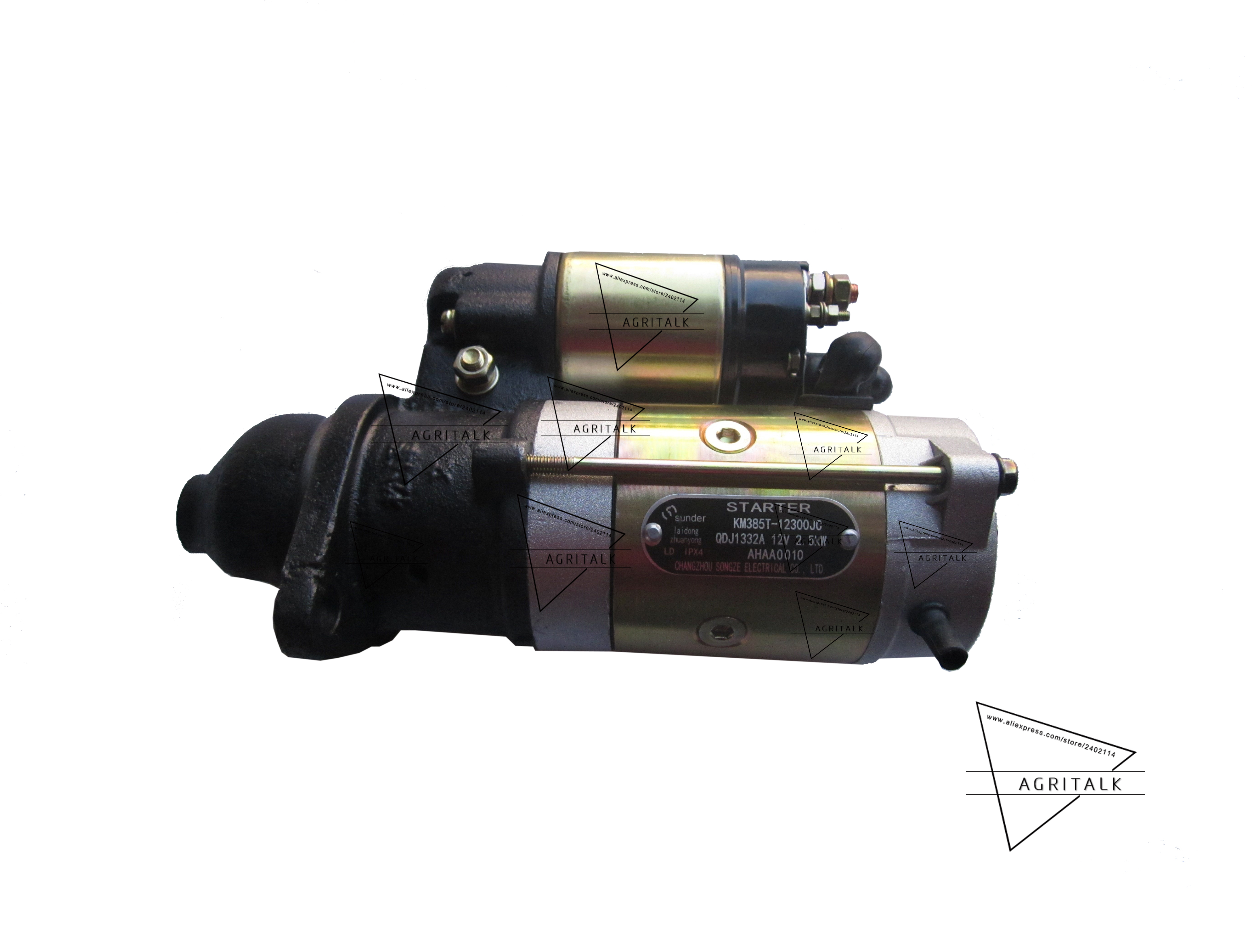 QDJ1332A starter motor for Laidong KM385BT, it is with 11 teeth ,2.5 kW, part number: KM385T-12300JC