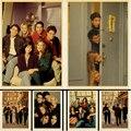 ТВ Шоу друзья американская драма постер фильмов в стиле винтаж декор комнаты картина Кафе Отель обои украшения плакат