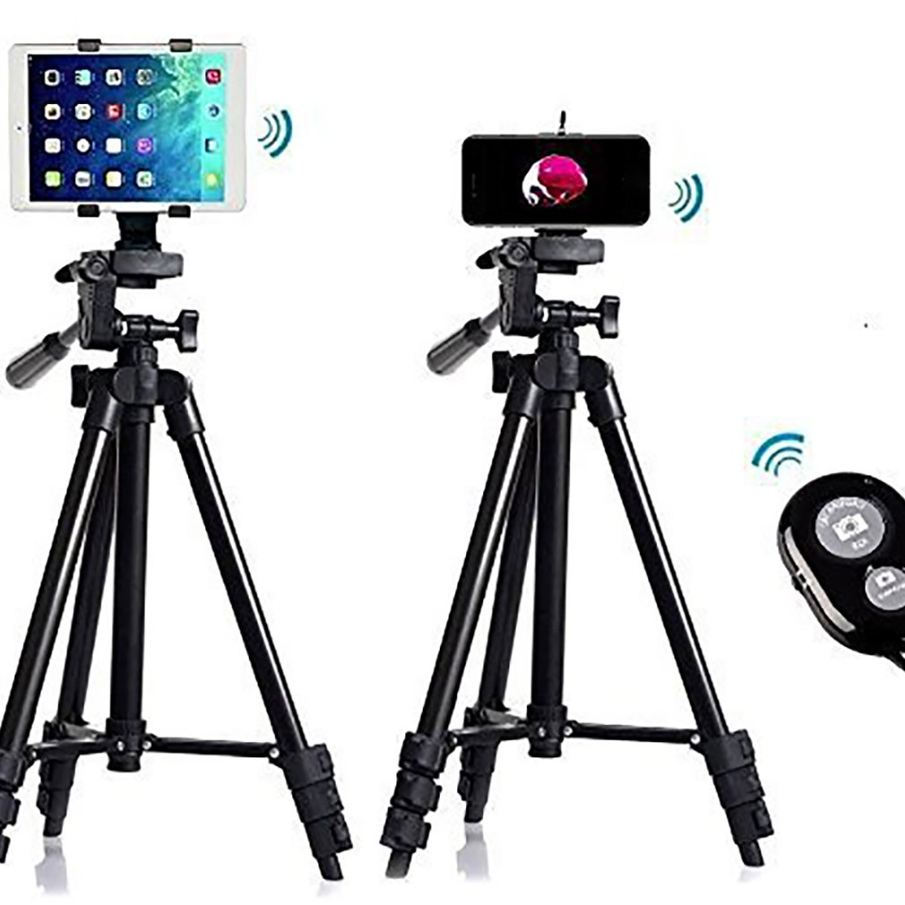 High-Quality Self-Timer Tripod With A Clip Live Live Mount Camera Tripod Retractable Selfie Rack Portable