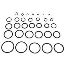 купить 419PCS 32 Sizes Black O-ring Assortment Set Seal Gasket Universal Rubber O Ring Kit with Box дешево
