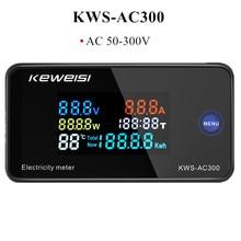 KWS-AC300 AC 50-300V Voltmeter Ammeter KWS Power Energy Meter LED AC Wattmeter Electric Meter with Reset Function 0-100A 40% off
