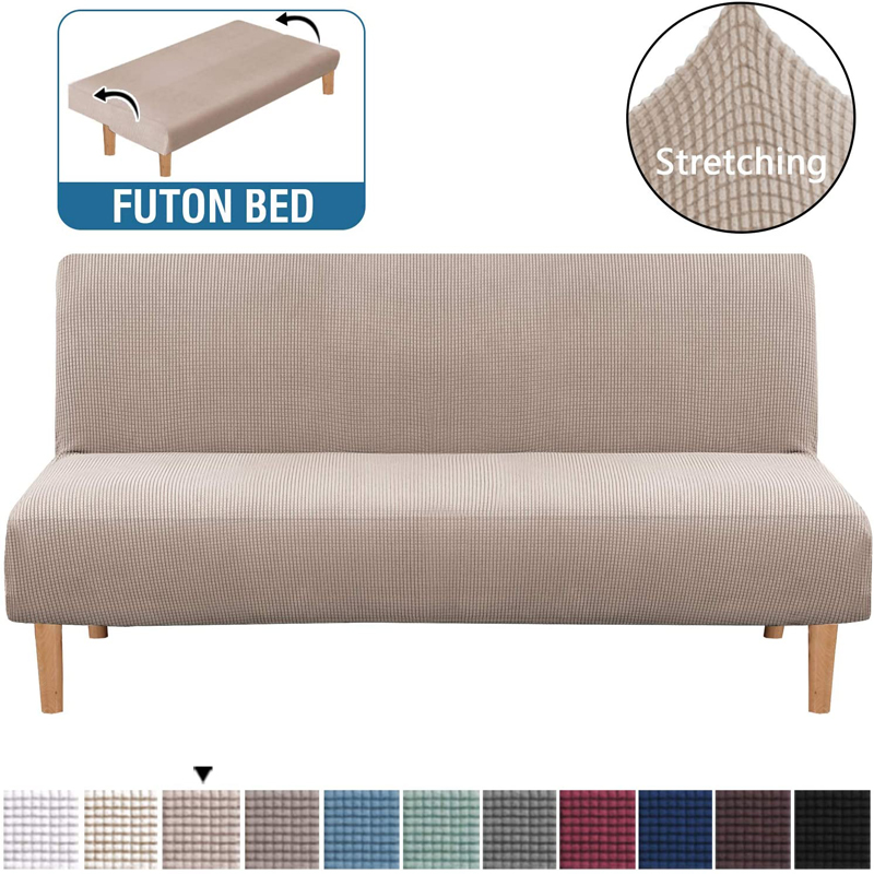 Universal Armless Sofa Bed Cover Folding Modern seat slipcovers stretch covers cheap Couch Protector Elastic Futon