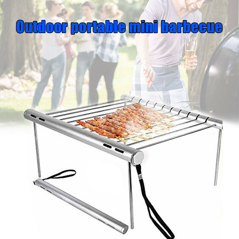 1 Pc Stainless Steel Folding Barbecue Grill Rack Portable Camping Mini Barbecue Rack home or outdoor Barbecue Accessories
