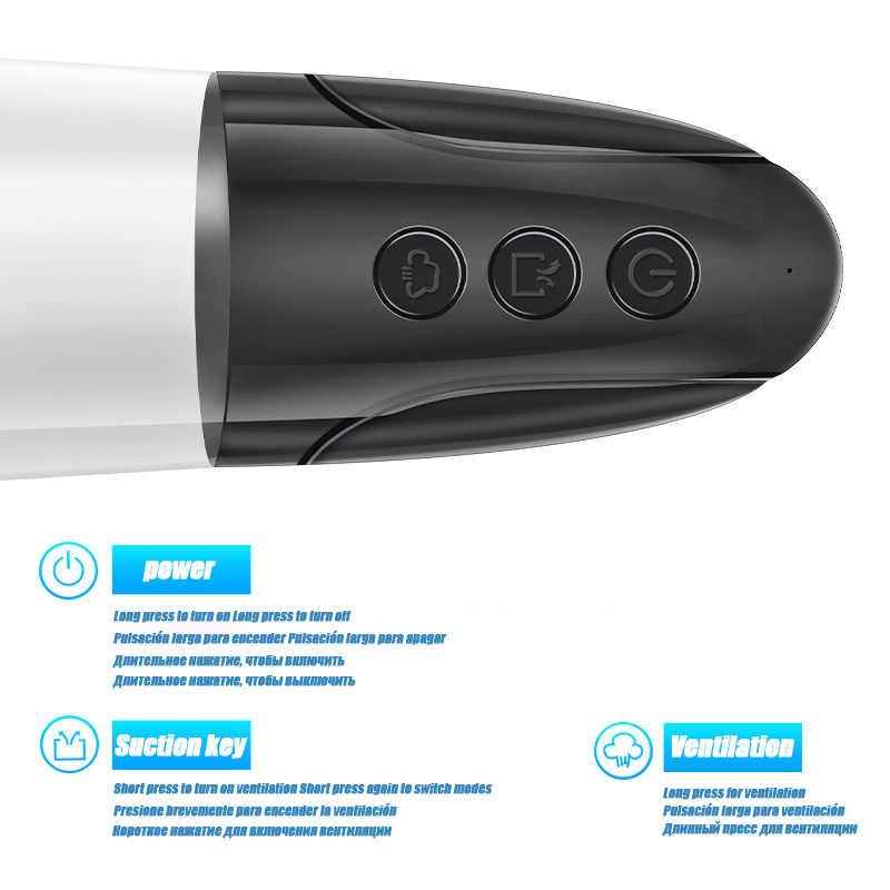Mannelijke Vliegtuigen Cup Zuigen Masturbator Penis Pomp Elektrische Uitbreiding Masturbator Volwassen Speeltjes Voor Mannen De Vagina Echte Kut