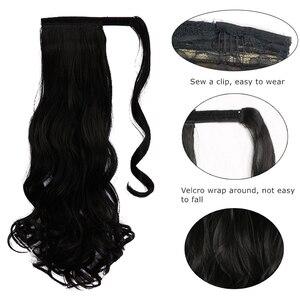 AOOSOO 24 дюйма шелковистые прямые синтетические клипсы на шнурке конский хвост шиньоны для женщин наращивание волос высокотемпературное волокно