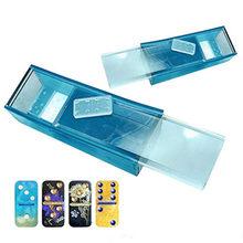 Caja de almacenamiento de dominó, Molde de resina Epoxy, molde de silicona para manualidades, herramientas de fabricación de artesanías, 1 Juego