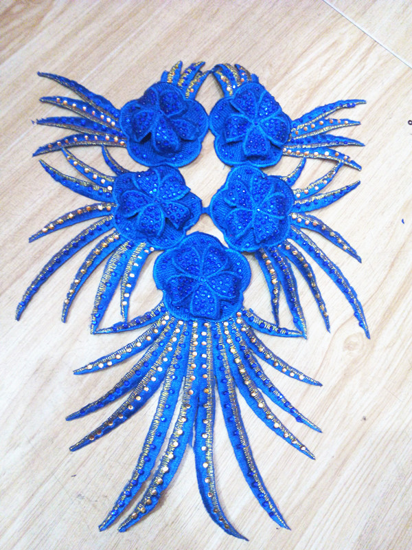 Sequin Multilayer Three-dimensional Flower Handmade Flower Clothing Accessories New Embroidered Cloth Decals