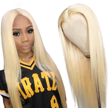 13x6 Long Honey Blonde Lace Front Human Hair Wig 250% Density Brazilian Lace Front Wig For Women Remy Hair Natural Hairline