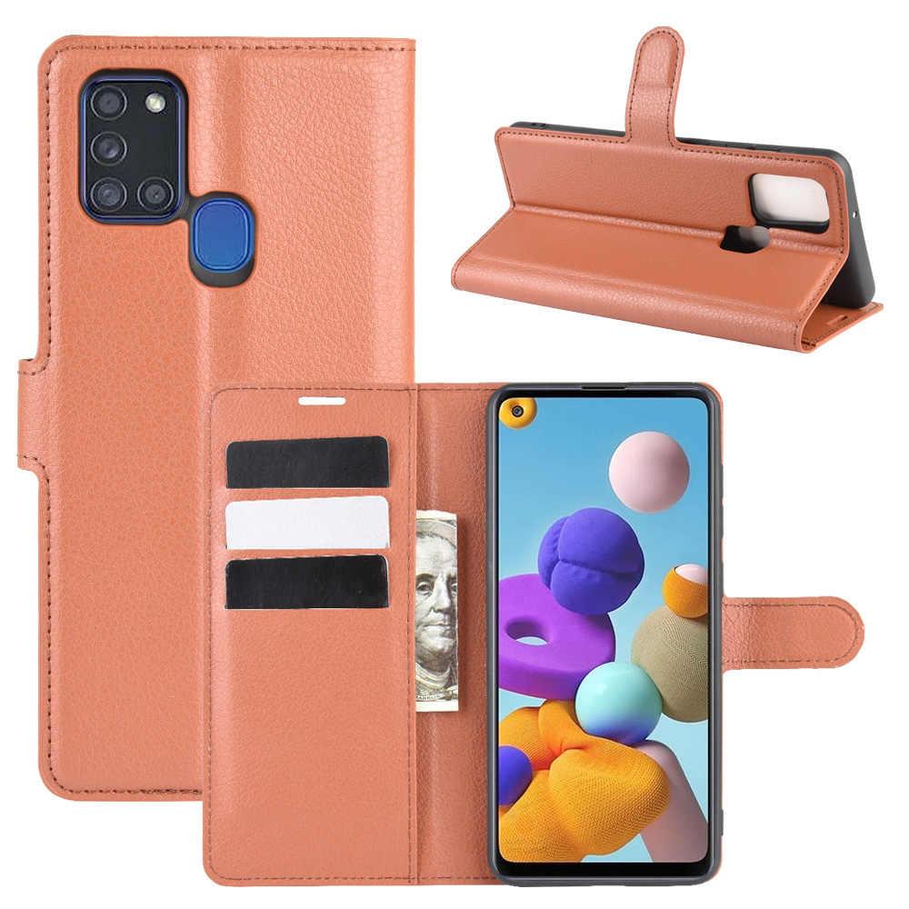 Vino Tinto RuiPower Funda para Samsung Galaxy A21s con Tapa Funda Samsung Galaxy A21s Libro Fundas de Cuero PU Premium Magn/ético Tarjetero y Suporte Silicona Carcasa Samsung Galaxy A21s