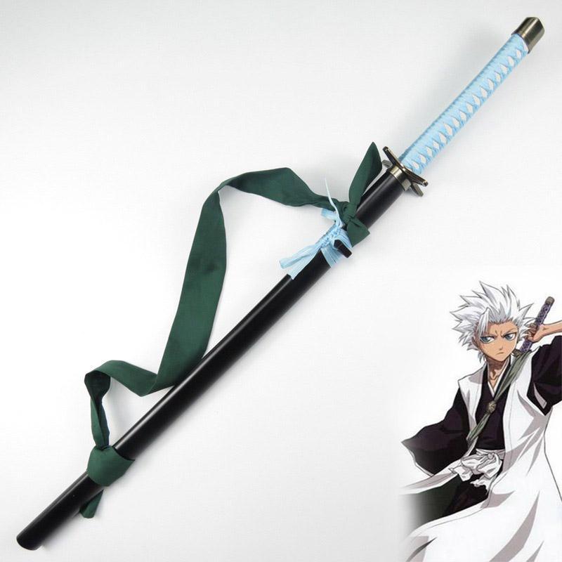 Bleach Espada Wooden Knife Sword Weapon Toys Cosplay Hitsugaya Toushirou Armed Katana Hyourinmaru Wood Samurai Sword Ninja Prop