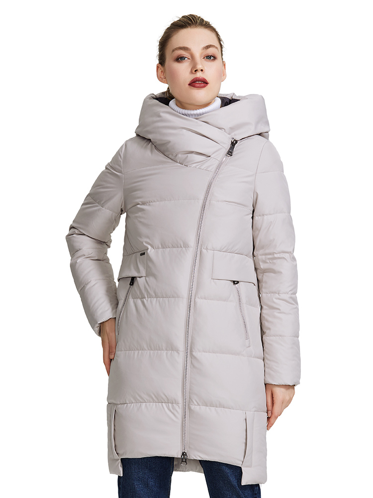 MIEGOFCE 2020 Winter Collection Women's Warm Jacket Made With Real Bio Parka Women Windproof Stand-Up Collar With Hood Coat
