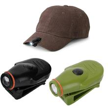 Mini LED Headlight Headlamp Flashlight Cap Hat Torch Head Light Lamp Camping Hunting Fishing Clip-On With Built-in Battery