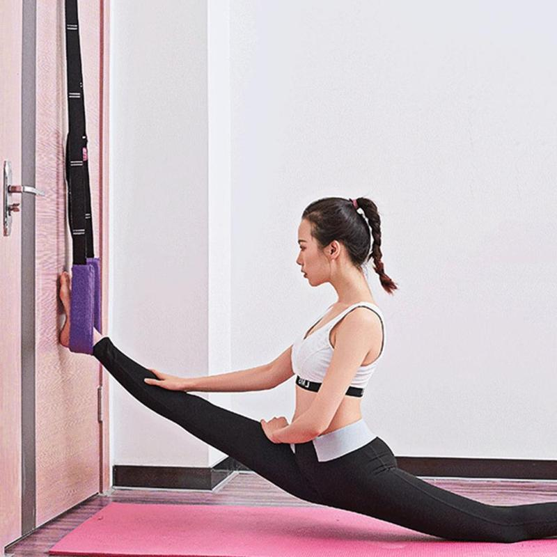 Door Flexibility Stretching Leg Stretcher Strap For Ballet Cheer Dance Gymnastics Trainer Yoga Stretch Belt Yoga