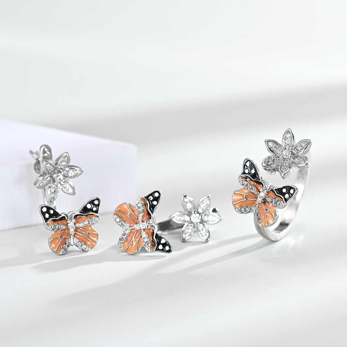 NPKDS 3Pcsแฟชั่นZircon Leaf Shapeแหวนต่างหูBohemianผู้หญิงเครื่องประดับงานแต่งงาน