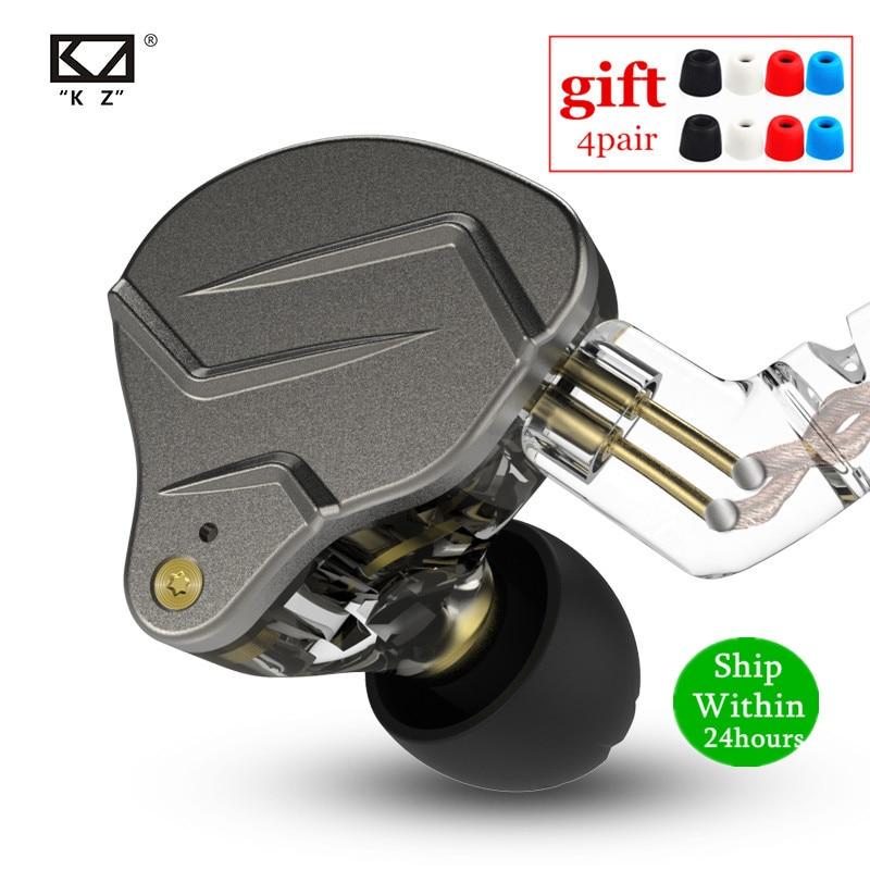 Новинка KZ ZSN PRO 1BA + 1DD гибридные технологии HIFI металлические наушники-вкладыши бас наушники Спортивная шумоподавляющая гарнитура ZS10 PRO ZSX