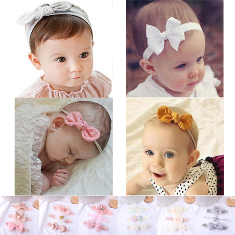 4pcs Baby Girls Cute Headband Hand Accessories//Infant Toddler Flower Headband