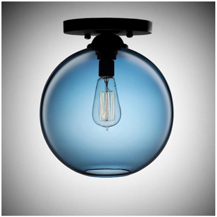 Modern Minimalist Art Creative Round Ball Glass Ceiling Lamp Bathroom Entrance Hallway Balcony Manufacturers Direct Selling