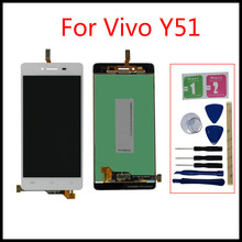 High quality For Vivo Y51 LCD Y51 Pantalla Ekran Touch Screen Panel Assembly monitor Replacement Free repair tools 100% high quality lcd for vivo y27 lcd touch screen panel y27 display monitor lcd ekran digitizer assembly replacement parts