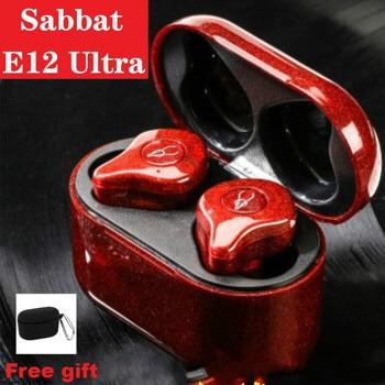 Sabbat-auriculares TWS E12 Ultra Bluetooth 5,0, estéreo HiFi deportivos Aptx con chip Qualcomm, CVC 8,0, Control táctil, nuevo y Original